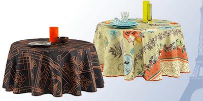 Tischdecke rund 160 cm für innen und außen | Franse Tafelkleden