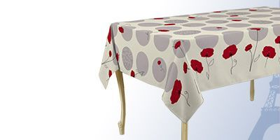 Square 180 cm tablecloth for indoor and outdoor washable at 40 degrees